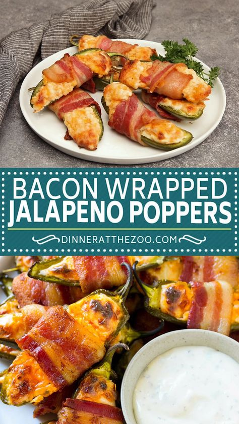 The best bacon wrapped jalapeno poppers, perfect for game day!