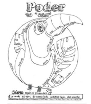 Poder Color By Pronoun Stem Change Coloring Page Coloring Pages