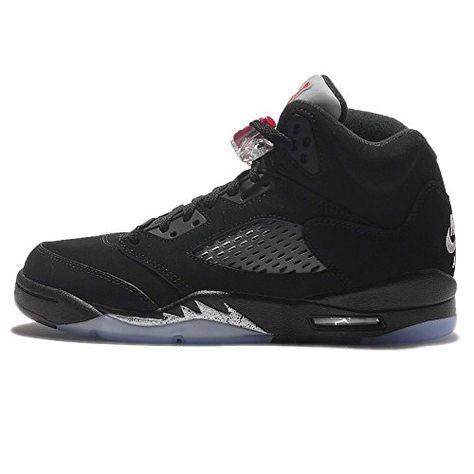 Nike Air Jordan 5 Retro OG BG Black Fire Red Metallic Sil...   schuhe    Pinterest   Black fire, Nike air jordans and Air jordan