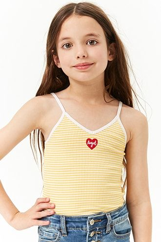 785925568e2 Girls Striped Angel Tank Top | Products in 2019 | Little girl ...