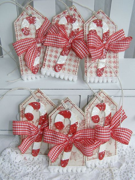 SALE+Candy+Cane+Christmas+Holiday+Gift+Tags+by+PaperBistro+on+Etsy