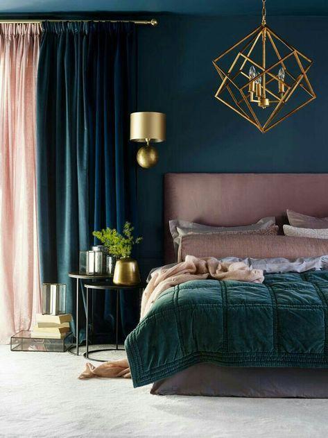 Trendy Bedroom Dark Walls Gold 24+ Ideas