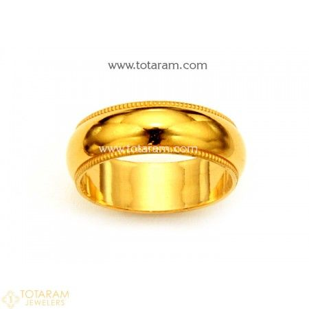 f7ee6c77f 22K Gold Band Ring For Women - 235-GR4303 - Buy this Latest Indian Gold  Jewelry Design in 3.100 Grams for a low price of $213.90
