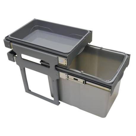 Poubelle 1 Bac De Capacite 34 Litres Avec Son Panier De Rangement Poubelle Coulissante Panier Rangement Accessoires Cuisine