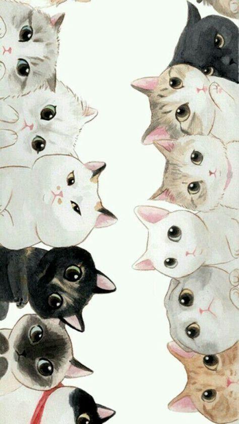 Imagem De Cat Mais Wallpaper Gatos Desenho De Animais Arte Fofa