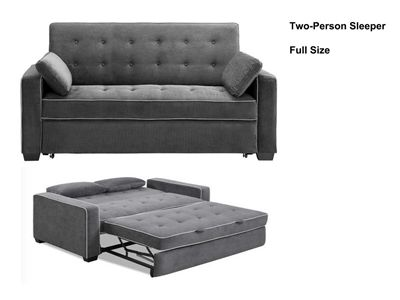 augustine full size loveseat convertible sofa bed by lifestyle solutions