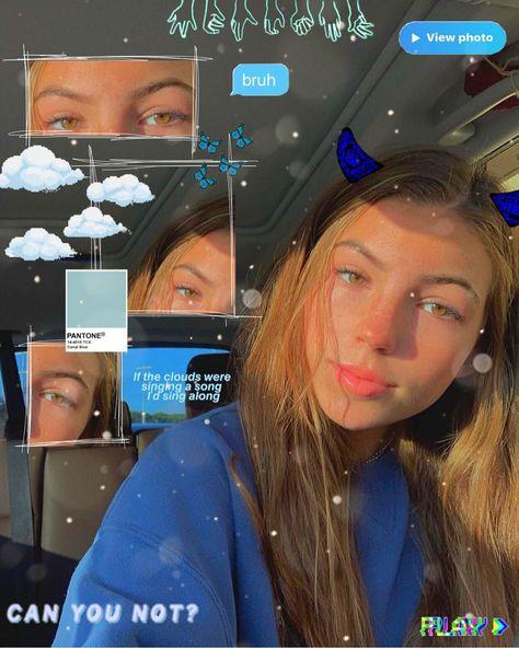 Lauren 💙💭 #blueaesthetic #aesthetic #blue #bluehearts #cutie #cute #clouds #style #fashion #hair #makeup #sunkissed #instagram #editpictures #laurengrace #edits #picsart #softgirlaesthetic #l4l
