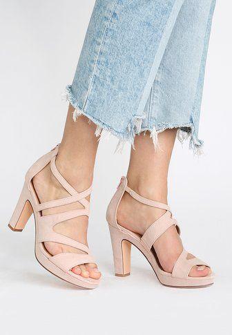 Zalando Hoge hakken sandalen wit roze