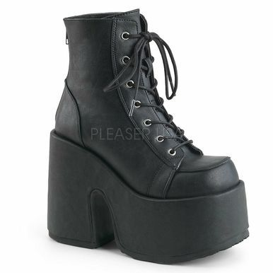 Thick Sole Lace Up Motorcycle Punk Chunky Mid Heel Ankle Booties Womens Round Toe Platform Short Boots