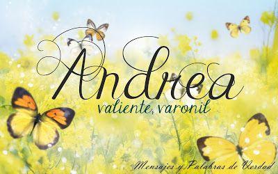 Andrea Significado Nombres Biblicos De Mujer Good Night Quotes Morning Rose Butterfly Wallpaper