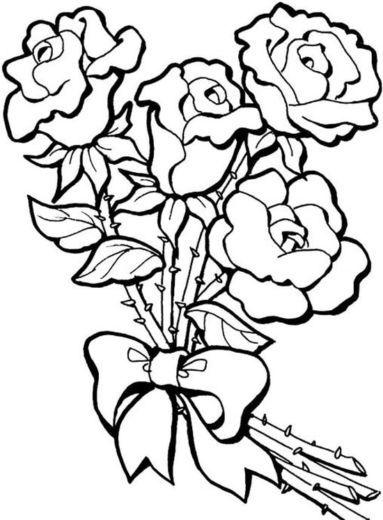 Sketsa Hitam Putih : sketsa, hitam, putih, Gambar, Bunga, Terindah