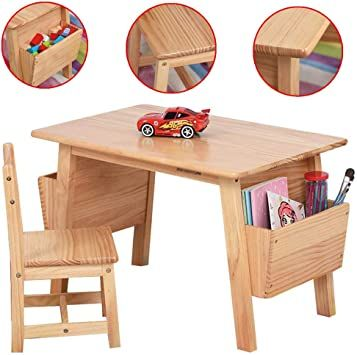 Kids Furniture Solid Wood Children S Table Chair Baby Learning Table Painting Toy Desk Safe And Environmental Protect Childrens Table Kids Furniture Furniture Child table and chairs wood