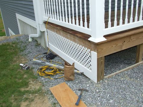 PVC Porch Skirt Detail Porch Skirt for Farmers Porch