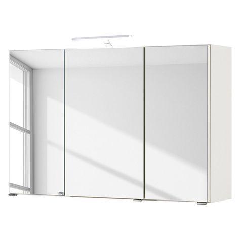 EEK A+, Spiegelschrank Turda III inkl Beleuchtung - Weiß, mooved
