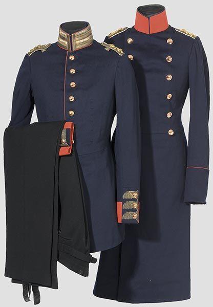 Waffenrock und Überrock eines Oberleutnants