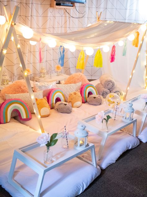 We come to you to set up and break down! Birthday Sleepover Ideas, Sleepover Room, Birthday Party For Teens, Slumber Parties, Bachelorette Parties, 9th Birthday, Teepee Party, Kids Canopy, Pajama Party