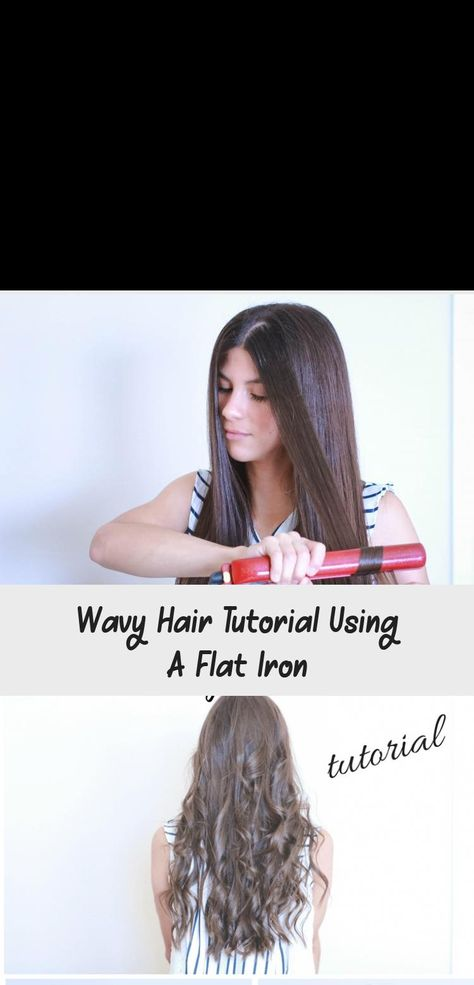 Wavy Hair Tutorial Using A Flat Iron | Wavy hairstyles
