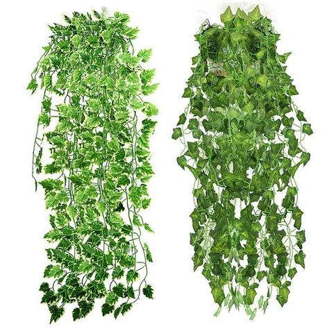 Artificial Greenery Ivy Leaves Fake Green Plastic Hanging Ivy Garland Home Decor
