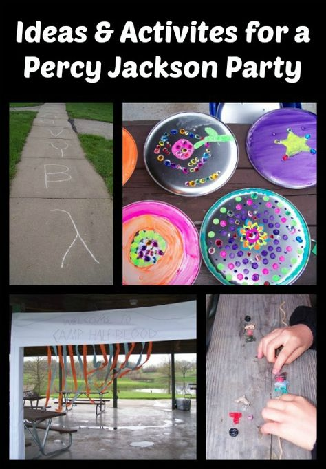 A Percy Jackson and the Greek Gods Birthday Party -- fun ideas & activities for creating your own Camp Half-blood