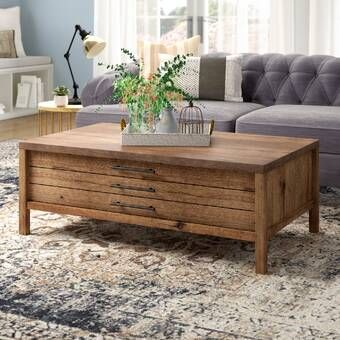 Union Rustic Tylor Coffee Table With Storage Reviews Wayfair In 2020 Living Room Design Decor Coffee Table Farmhouse Farm House Living Room