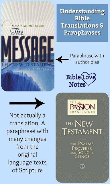 I The King Jame Version Best English Translation Message Bible Gospel Knowledge A Or Paraphrase