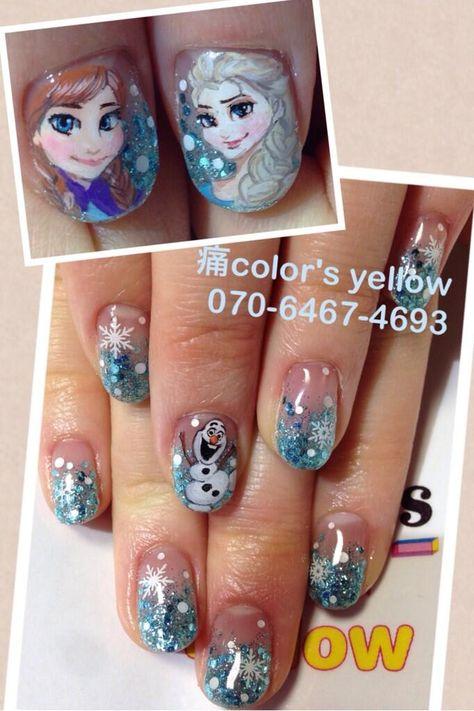 アナと雪の女王 : Character nail art