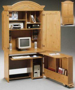 A Tall Computer Hutch Is A Great Way To Use Vertical Space To Pack All  Things Office Into One Piece Of Furnituu2026 | Pinteresu2026
