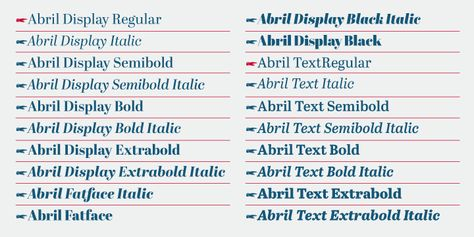 Abril Webfont Desktop Font Myfonts Myfonts Slab Serif