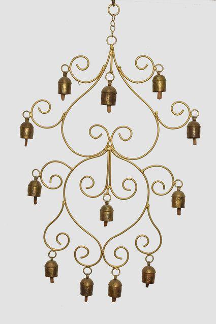 Dozen Ethnic Hanging Copper Bells #handcrafted #metal #hanging #bell  #wowtrendy