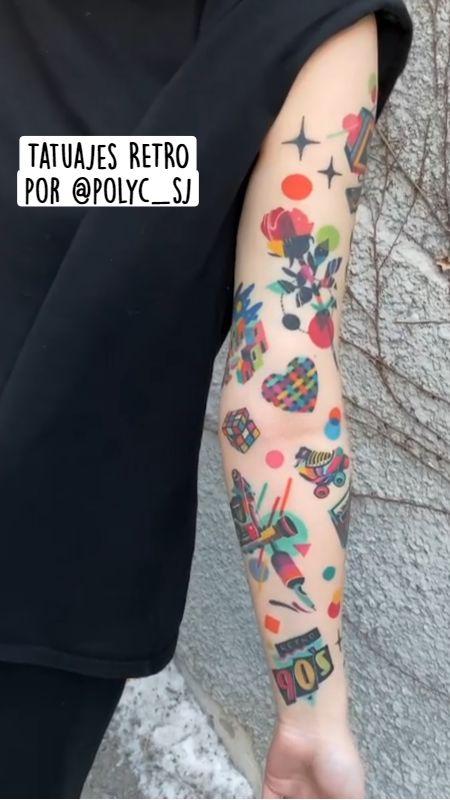 Tatuajes RETRO por @polyc_sj