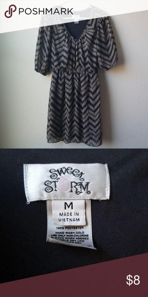 SWEET STORM Dress Sweet storm dress Shell and Lining are both 100% Polyester Size Medium Sweet Storm Dresses