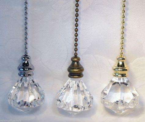 Details About Decorative Cord Chain Pull Switch Lighting Light Bathroom Diamond Blind Fan Bnib Pull Chain Pull Cord Light Switch Light Pull