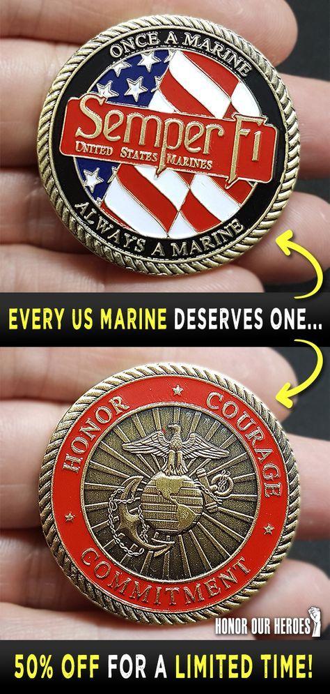 USMC Semper Fi Challenge Coin   Cool USMC Gifts   USMC Gift