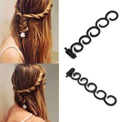 2 X Black French Hair Braiding Tool Roller Plait Maker Twist Hair Design