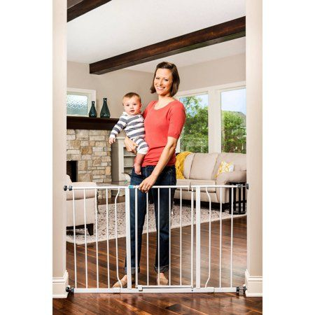 New Regalo Easy-Step Metal Swing Baby Gate Pet Home Safety Extension Kit Doorway
