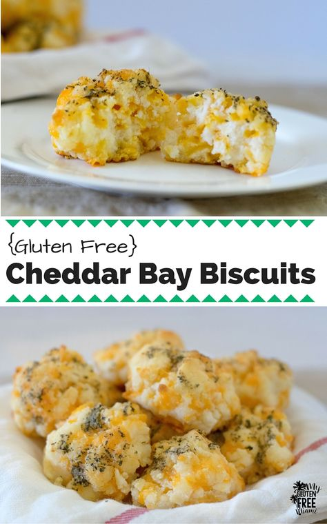 Cheesy, garlic biscuits that will have you reminiscing of your pre-gluten free days! Quick and easy, these gluten free Cheddar Bay Biscuits will be a family favorite!