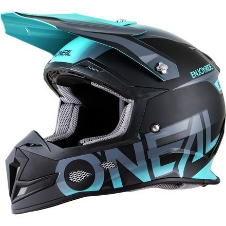 O Neal 5 Srs Mens Off Road Blocker Helmet Black Teal Large Car Accessories Online Market Dirt Bike Gear Bike Helmet Design Motorcross Bike