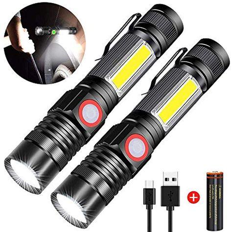4 Modi Wiederaufladbare LED COB Magnet Taschenlampe Stablampe Akku Arbeitsleucht