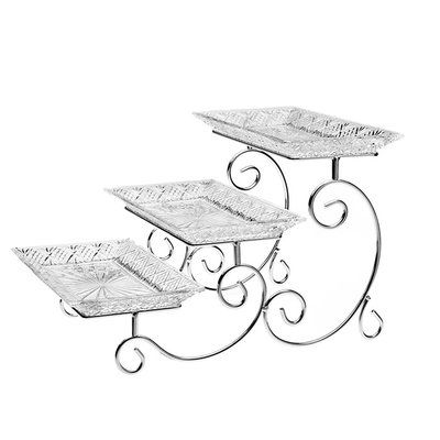 Godinger Silver Art Co Dublin Tiered Stand Tiered Server Tiered Stand 3 Tier Server