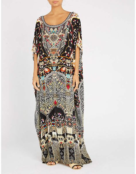 5bf2656e5be4 Camilla Chamber of Reflections silk maxi kaftan. More Details · Shahida  Parides