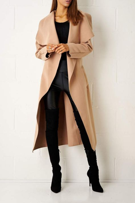 frontrow Camel Waterfall Coat from Essex by Frontrow — Shoptiques