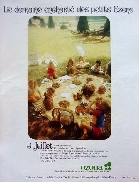 Page De Publicite Vetements Pour Enfants Ozona En 1973 N 46527