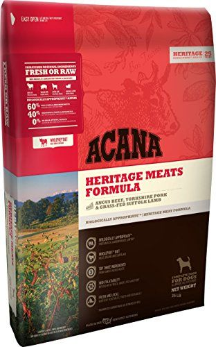 Orijen Acana Heritage Meats Dog Food 25 Lb Amazon Best Buy