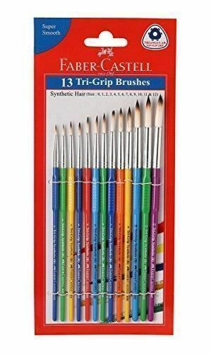 Faber Castell Tri Grip Brush Round Pack Of 13 Water Color And