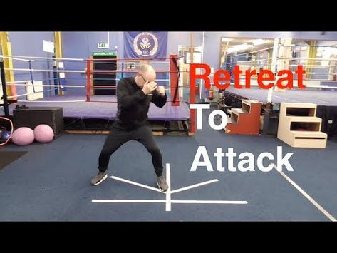Boxing Footwork Drill - Retreat to Attack - YouTube | Boxing