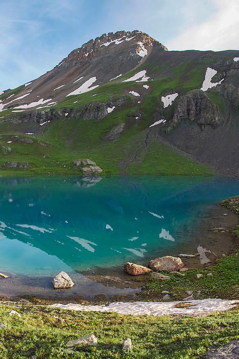 Upper Ice Lake, Silverton, Colorado - Mountain photography prints by Aaron Spong  http://aaron-spong.artistwebsites.com/featured/upper-ice-lake-aaron-spong.html