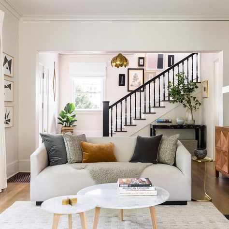 So Much Love For This Traditional Meets Modern Living Room Swipe
