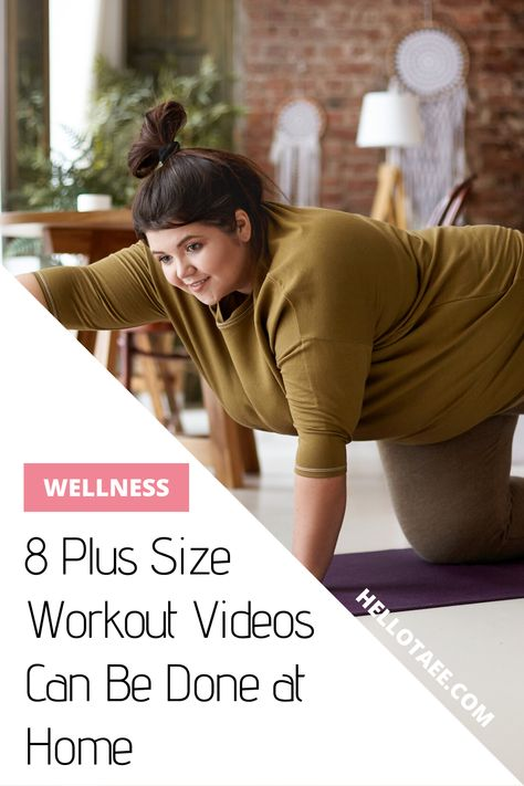 Working out a plus size body does not need a fancy expensive trainer and a gym. While we're social distancing, here are eight plus size workout videos you can do at home! Leg Workout At Home, Workout Plan For Beginners, Pilates For Beginners, Beginner Pilates, Pilates Yoga, Plus Size Yoga, Plus Size Workout, Easy Workouts, At Home Workouts