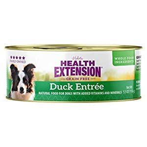 Health Extension Grain Free Duck Entree 5 5 Ounces Case Of 24 Dog Supplies Online Dog Food Recipes Canned Dog Food Grain Free Dog Food