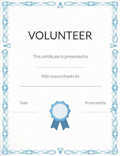 Free Printable Volunteer Recognition And Appreciation Certificates Certificate Of Recognition Template Appreciation Certificate Awards Certificates Template